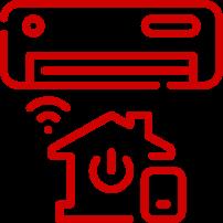 ícone ar condicionado na casa